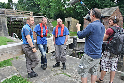 Filming for the BBC One Show and the Canal & River Trust