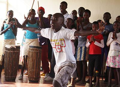 Dancers in Rwanda